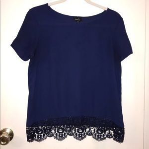 Rue 21 Navy Blue Blouse!